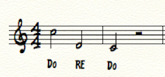solfege exercise Re