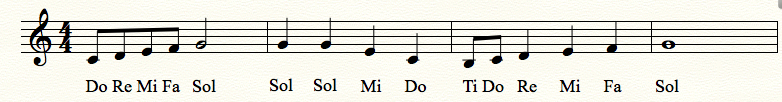 sight singing exercise