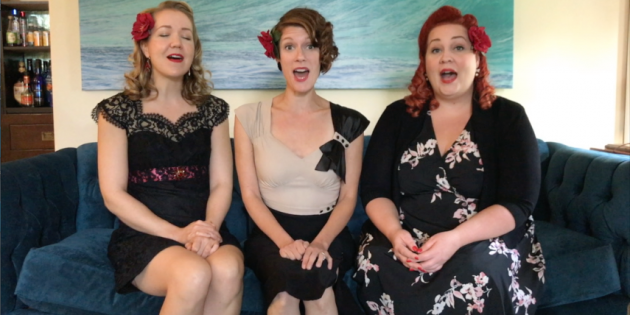 three part harmony singing